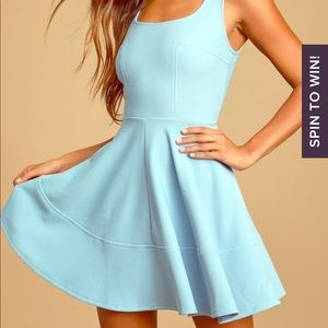Home Before Daylight Periwinkle Mini Skater Dress